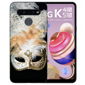LG K51s Silikon TPU Handyhülle mit Fotodruck Venedig Maske