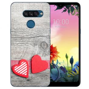 individuelle Schutzhülle mit Foto Bild für LG K50s Herzen auf Holz