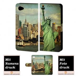 LG Q6 Smartphonehülle mit Freiheitsstatue und eigenem Foto selbst gestalten