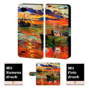 LG Q6 Personalisiert Handy Hülle Tasche mit Gemälde Foto Bild Druck