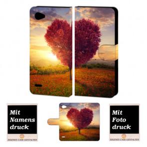LG Q6 Handyhülle mit Herzbaum Foto Bild Druck zum selbst gestalten