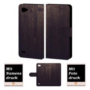 LG Q6 Handyhülle mit Holz Optik Foto Bild Druck zum selbst gestalten