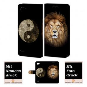 LG Q6 Handyhülle mit Löwe - Yin Yang Foto Bild Druck zum selbst gestalten