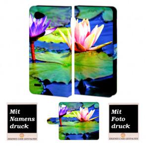 LG Q6 Personalisierte Handyhülle mit Lotosblumen Foto selbst gestalten
