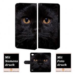 LG Q6 Handyhülle mit Schwarz Katze Foto Bild Druck zum selbst gestalten