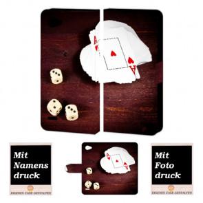 LG Q6 Personalisierte Handyhülle mit Spielkarten -Würfel Foto Bild Druck selbst gestalten