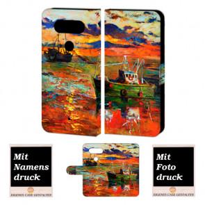 LG Q8 Personalisiert Handy Hülle Tasche mit Gemälde Foto Bild Druck