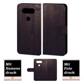 LG Q8 Handyhülle mit Holz Optik Foto Bild Druck zum selbst gestalten