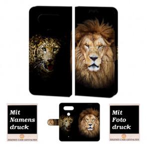 LG Q8 Handyhülle mit Löwe -Tiger Foto Bild Druck zum selbst gestalten