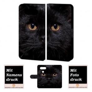 LG Q8 Handyhülle mit Schwarz Katze Foto Bild Druck zum selbst gestalten