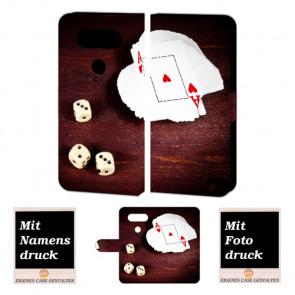LG G5 Individuelle Handy Tasche mit Spielkarten -Würfel + Fotodruck