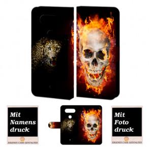 LG Q8 Handyhülle mit Totenschädel - Tiger Foto Bild Druck zum selbst gestalten