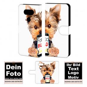 Ledertasche für LG G5 Individuelle Handy Tasche mit Bild Text Druck
