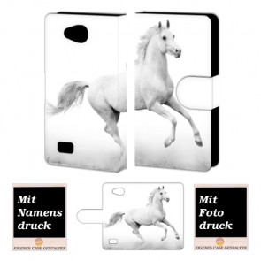 LG Joy H220 Pferd Handy Tasche Hülle Foto Bild Druck