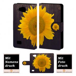 LG Joy H220  Sonnenblumen Handy Tasche Hülle Foto Bild Druck