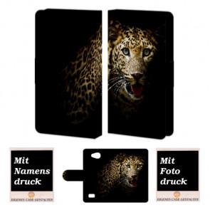 LG Joy H220 Tiger Handy Tasche Hülle Foto Bild Druck