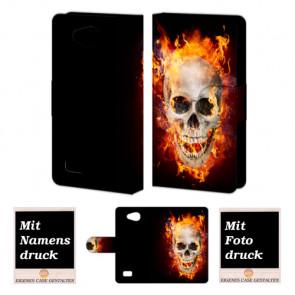 LG Joy H220 Totenschädel Handy Tasche Hülle Foto Bild Druck