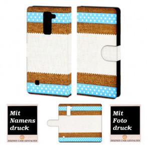 LG K10 Muster Handy Tasche Hülle Foto Bild Druck