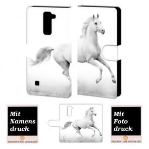 LG K10 Pferd Handy Tasche Hülle Foto Bild Druck