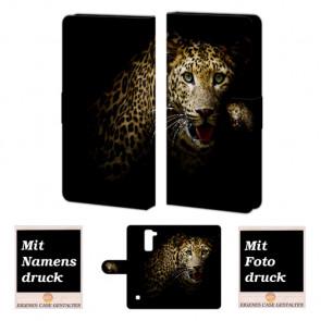 LG Stylus 2 Plus Handy Tasche Hülle mit Leopard Bild Druck
