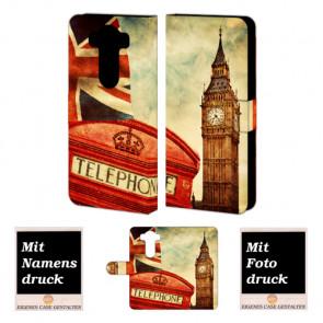 LG V10 Handy Tasche Hülle Foto mit Big Ben-Uhrturm London Druck