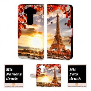 LG V10 Handy Tasche Hülle mit Foto Druck Eiffelturm Etui