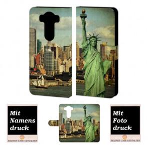 LG V10 Handy Tasche Hülle mit Freiheitsstatue Bild Druck