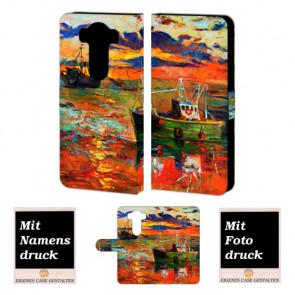 LG V10 Handy Tasche Hülle mit Gemälde Bild Druck