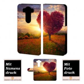 LG V10 Handy Tasche Hülle mit Herzbaum Bild Druck Etui