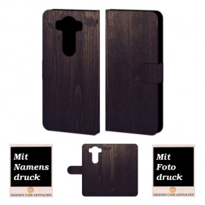 LG G4 Holz Optik Handy Tasche Hülle Foto Bild Druck