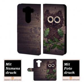 LG G4 Kaffee Eule Handy Tasche Hülle Foto Bild Druck