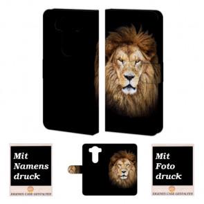 Handy Tasche Hülle für LG V10 mit Foto Druck Löwe Etui
