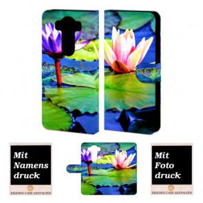 LG G3 Lotosblumen Handy Tasche Hülle Foto Bild Druck