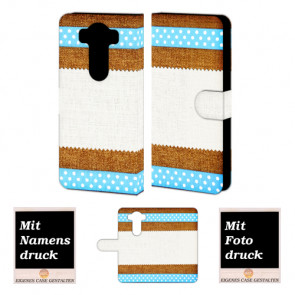 LG V10 Handy Tasche Hülle mit Muster Foto Bild Druck