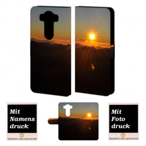 LG V10 Schutzhülle Handy Tasche Hülle mit Sonnenaufgang Bild Druck