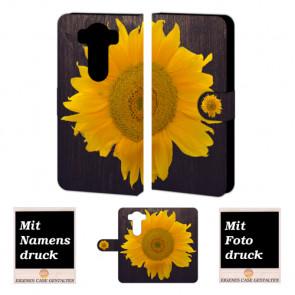 Handy Tasche Hülle mit Sonnenblumen Bild Druck für LG V10