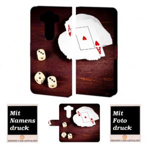 LG V10 Handy Tasche Hülle mit Spielkarten -Würfel Bild Druck