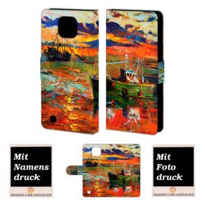 LG X Com Gemälde Handy Tasche Hülle Foto Bild Druck