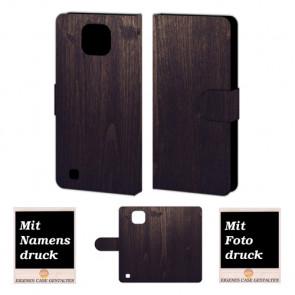 LG X Com Holz Optik Handy Tasche Hülle Foto Bild Druck