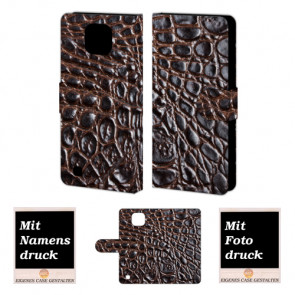 LG X Com Krokodil Optik Handy Tasche Hülle Foto Bild Druck