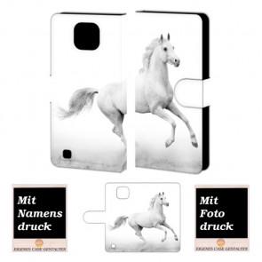 LG X Com Pferd Handy Tasche Hülle Foto Bild Druck