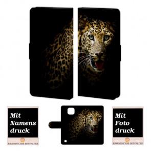 LG X Com Tiger Handy Tasche Hülle Foto Bild Druck