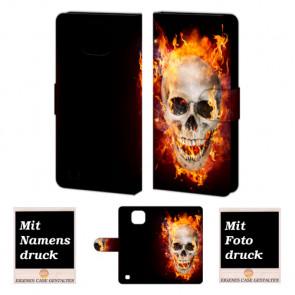 LG X Com Totenschädel Handy Tasche Hülle Foto Bild Druck