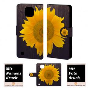 LG X Com Sonnenblumen Handy Tasche Hülle Foto Bild Druck