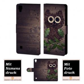 LG Optimus L9 Kaffee Eule Handy Tasche Hülle Foto Bild Druck