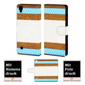 LG X Style Muster Handy Tasche Hülle Foto Bild Druck