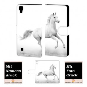 LG X Style Pferd Handy Tasche Hülle Foto Bild Druck