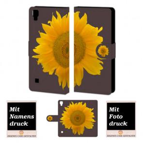 LG Optimus L9 Sonnenblumen Handy Tasche Hülle Foto Bild Druck