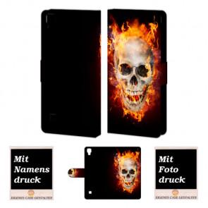 LG Optimus L9 Totenschädel Handy Tasche Hülle Foto Bild Druck