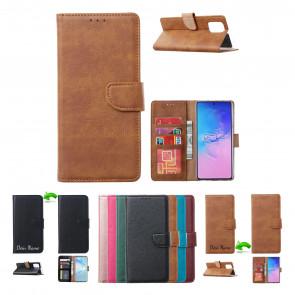 Handy Schutzhülle Tasche Etui Case in Licht Braun für Motorola Moto G 5G